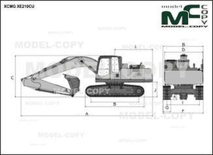 XCMG XE210CU - drawing