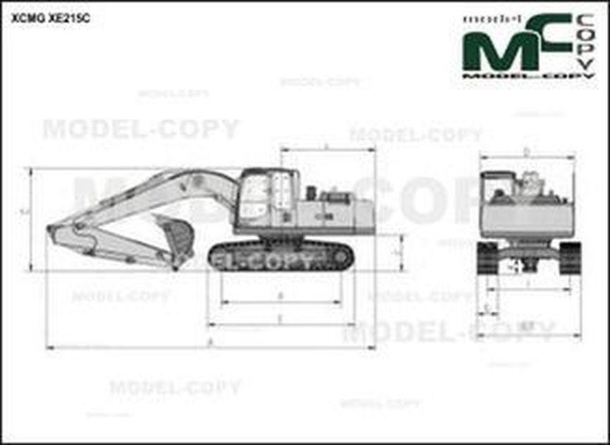 XCMG XE215C - drawing