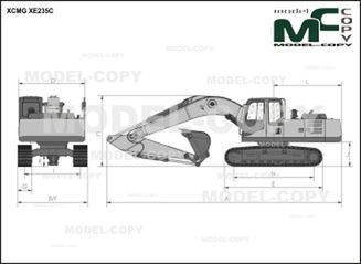 XCMG XE235C - drawing