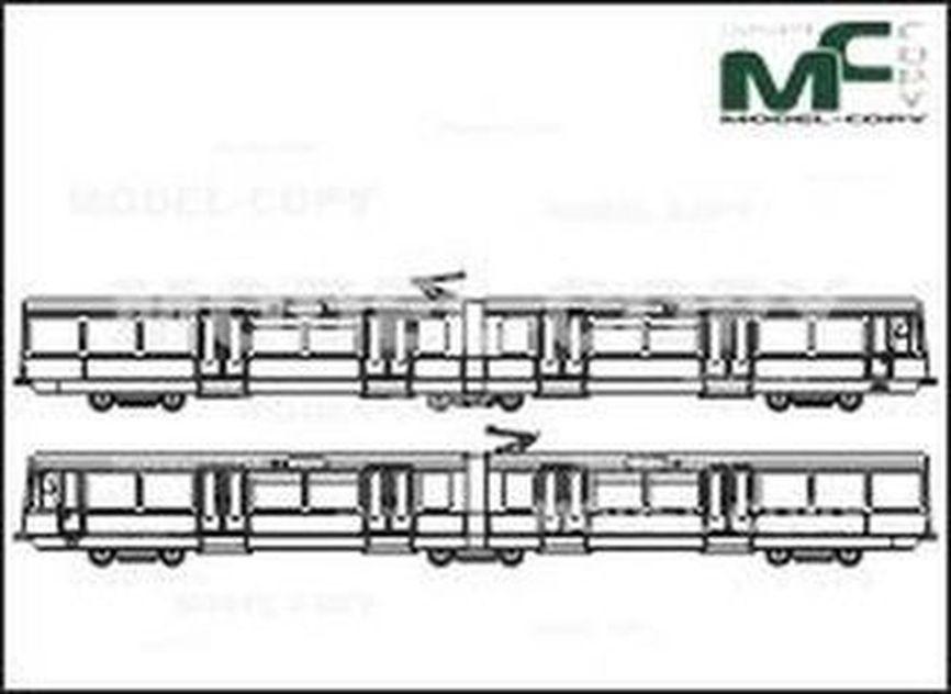 City railway Koeln, Series 2200 - drawing