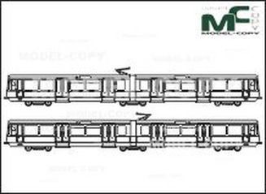 City railway Koeln, Series 2300 - drawing