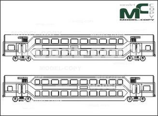 Double deck wagon, type DAbz - drawing
