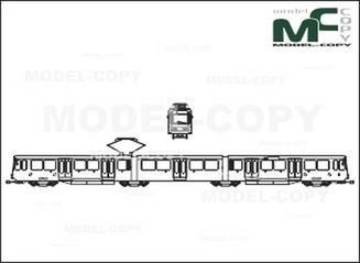 City Railway Cars, Type BDnf - drawing