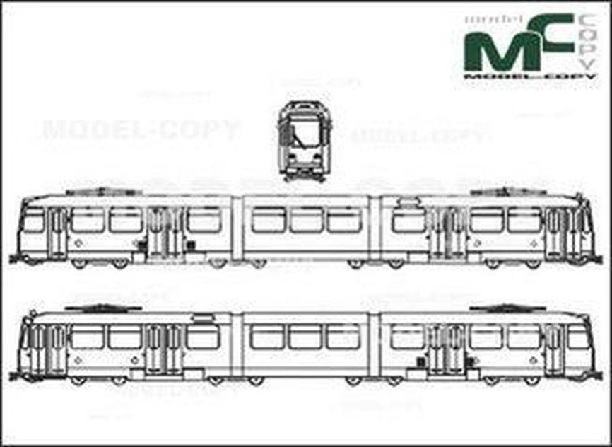 Duewag Tram N8-C - drawing
