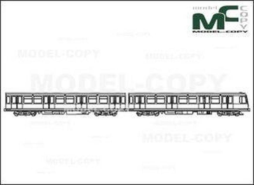 S-Bahn Berlin, Type 485 (Motor + Trailer) - drawing
