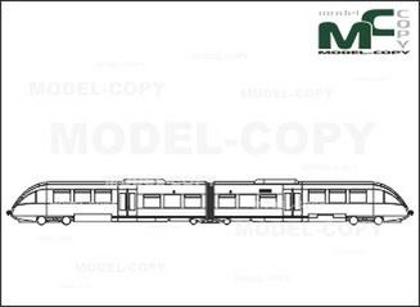 Regio-Rail, Krefeld/Mettmann/Dusseldorf/Neuss, Germany, Bombardier Transportation - Dibujo 2D
