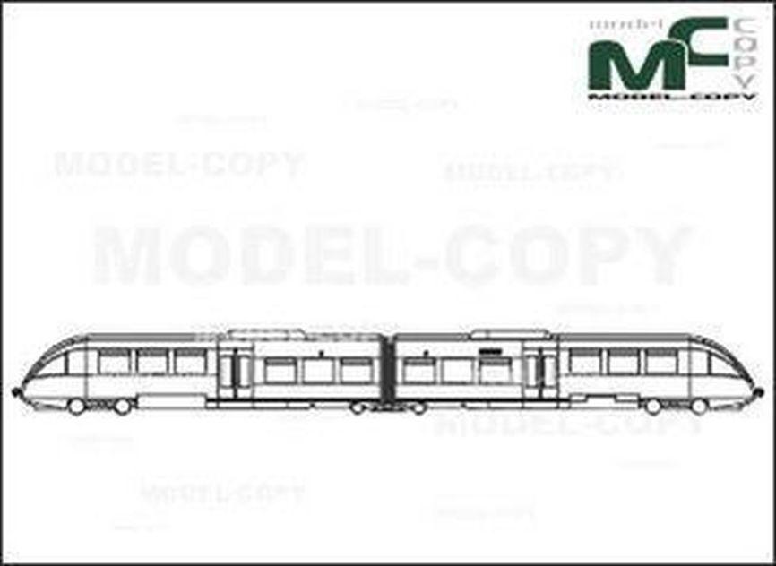 Regio-Rail, Krefeld/Mettmann/Dusseldorf/Neuss, Germany, Bombardier Transportation - drawing