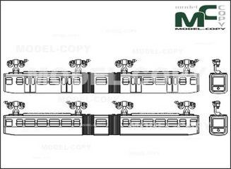 Overhead railway, Wuppertal, MAN/Siemens - drawing