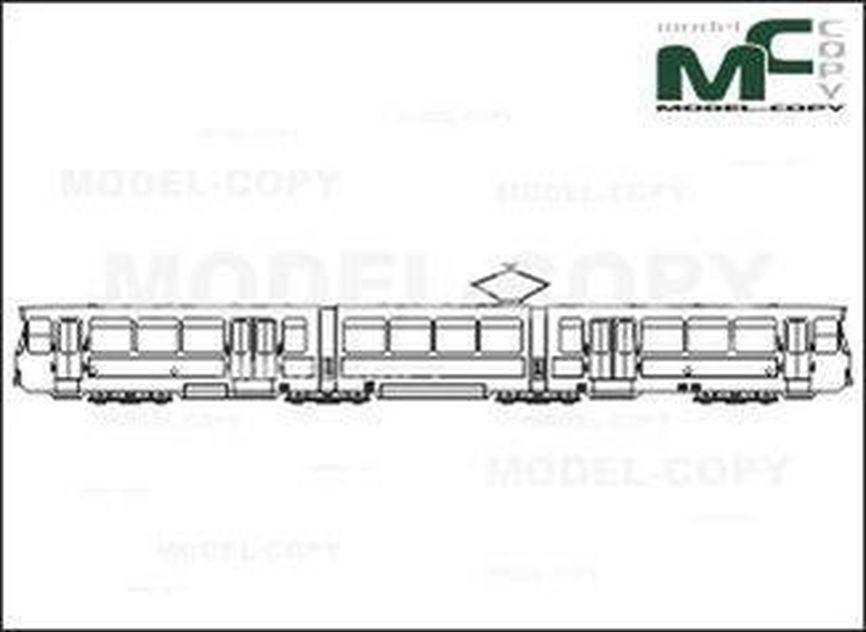 Tram, Frankfurt/Main, PT, Duewag/Siemens - 2D drawing (blueprints)