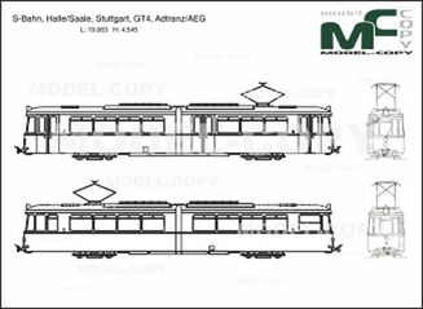 S-Bahn, Halle/Saale, Stuttgart, GT4, Adtranz/AEG - drawing