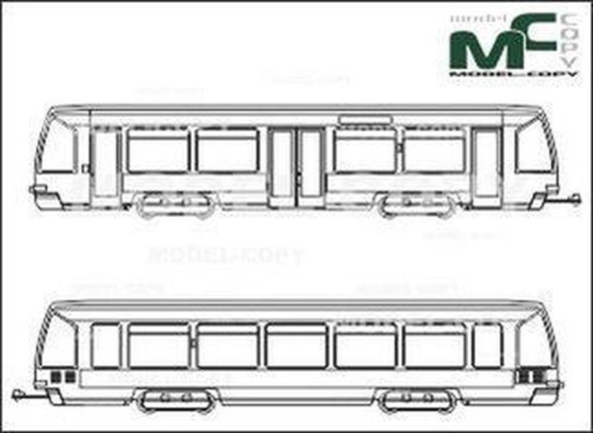 S-Bahn, Rostock, 4NBWE, Bombardier Transportation - 2D tekening
