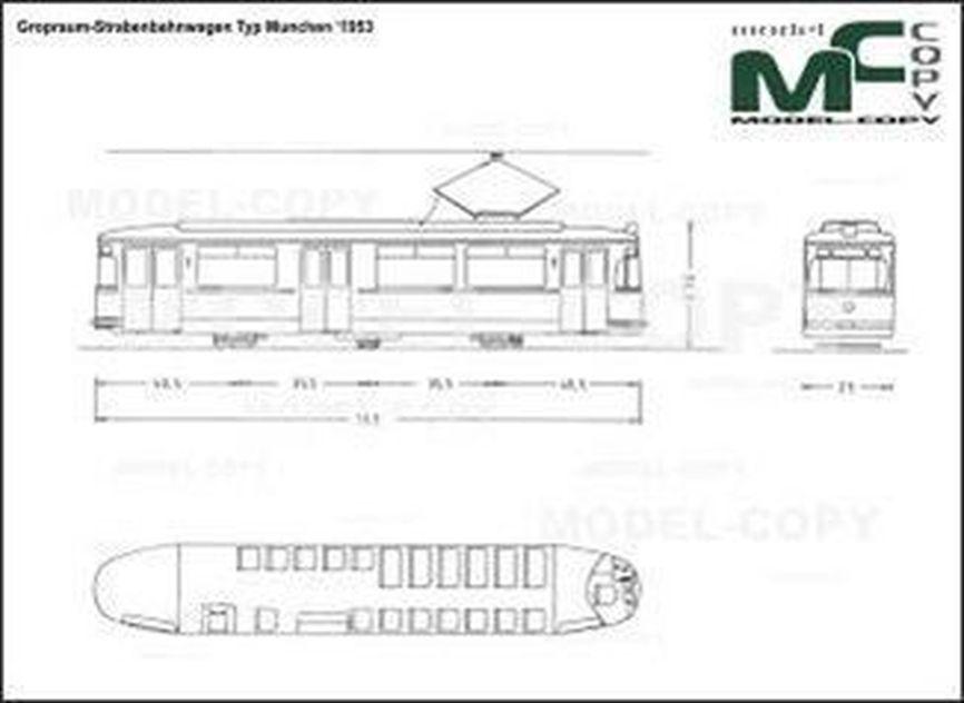 Gropraum-Strabenbahnwagen Typ Munchen '1953 - drawing