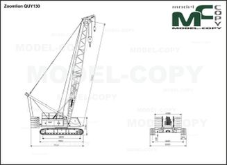 Zoomlion QUY130 - 2D drawing (blueprints)