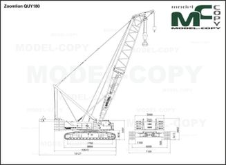 Zoomlion QUY180 - 2D drawing (blueprints)
