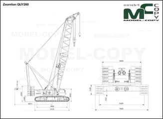 Zoomlion QUY260 - 2D drawing (blueprints)