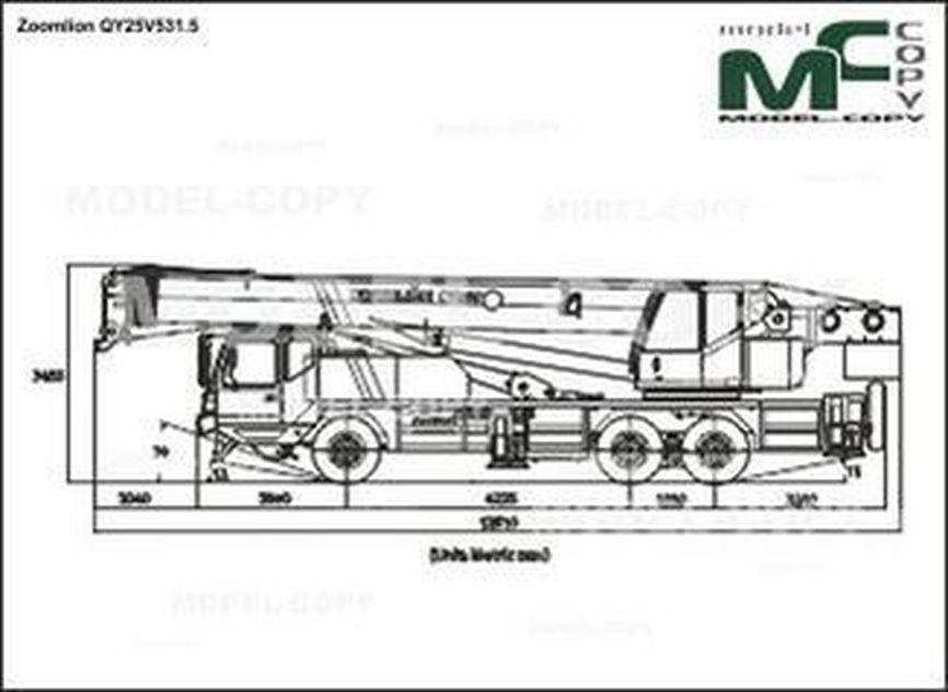 Zoomlion QY25V531.5 - 2D drawing (blueprints)