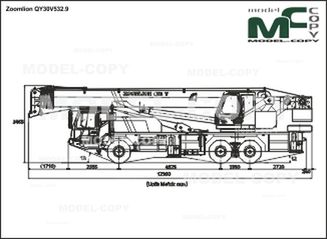 Zoomlion QY30V532.9 - 2D drawing (blueprints)