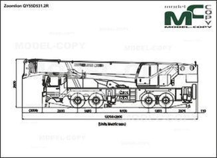 Zoomlion QY55D531.2R - 2D drawing (blueprints)