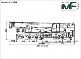 Zoomlion QY55V532.2 - 2D drawing (blueprints)