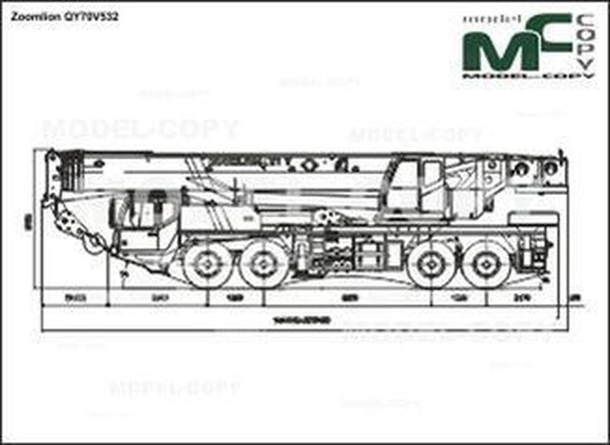 Zoomlion QY70V532 - 2D drawing (blueprints)
