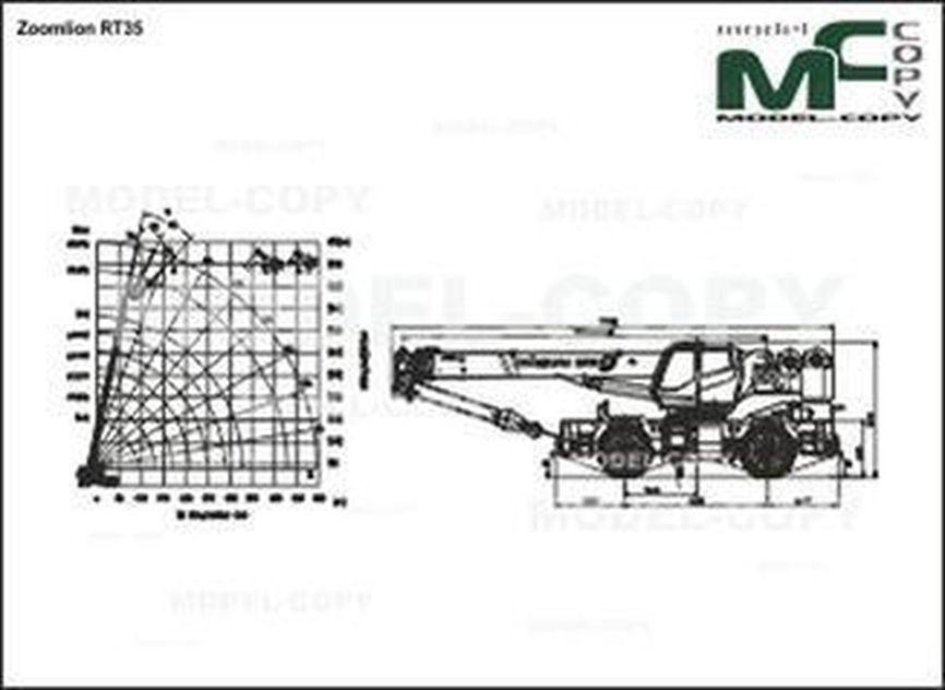 Zoomlion RT35 - 2D drawing (blueprints)