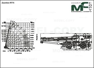 Zoomlion RT75 - 2D drawing (blueprints)