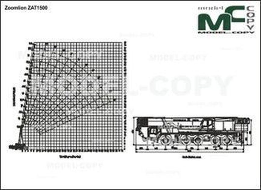 Zoomlion ZAT1500 - 2D drawing (blueprints)