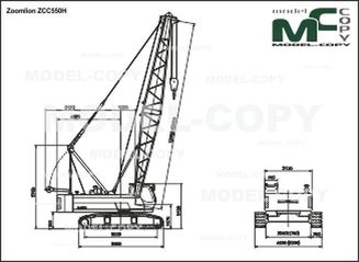 Zoomlion ZCC550H - 2D drawing (blueprints)