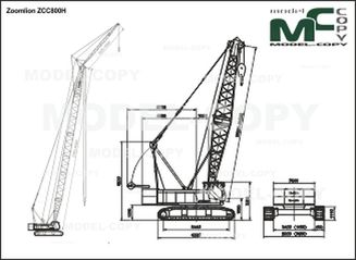 Zoomlion ZCC800H - 2D drawing (blueprints)
