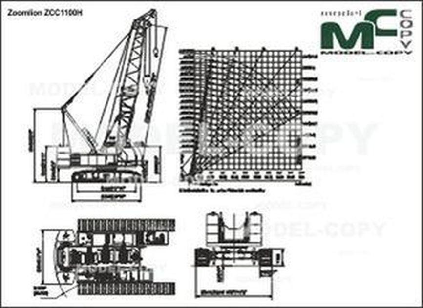 Zoomlion ZCC1100H - 2D drawing (blueprints)