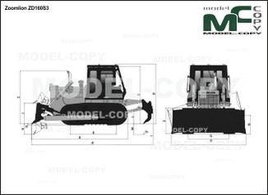 Zoomlion ZD160S3 - 2D drawing (blueprints)