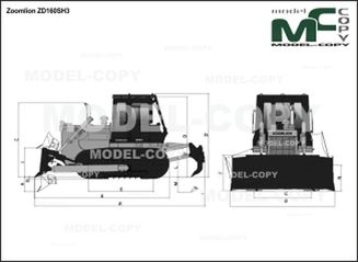 Zoomlion ZD160SH3 - 2D drawing (blueprints)