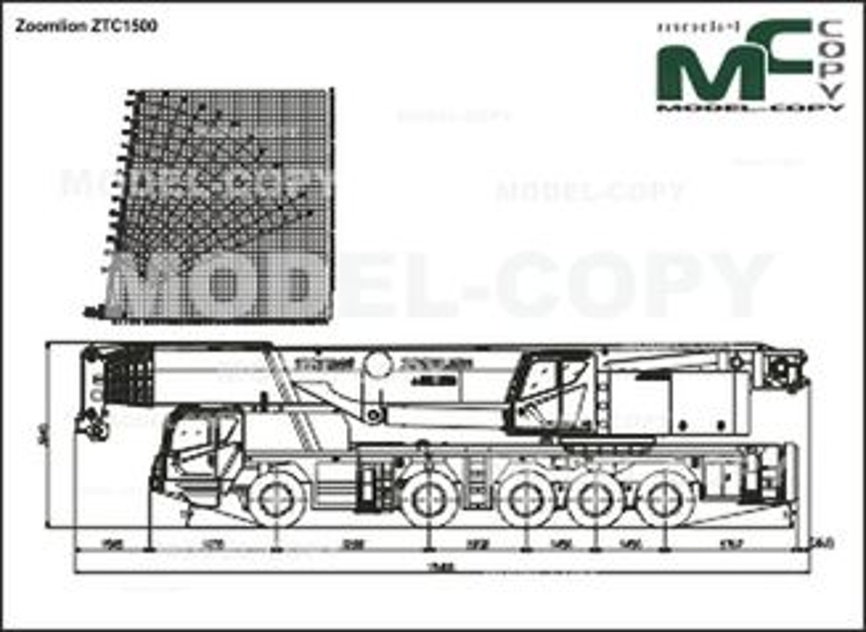 Zoomlion ZTC1500 - 2D図面