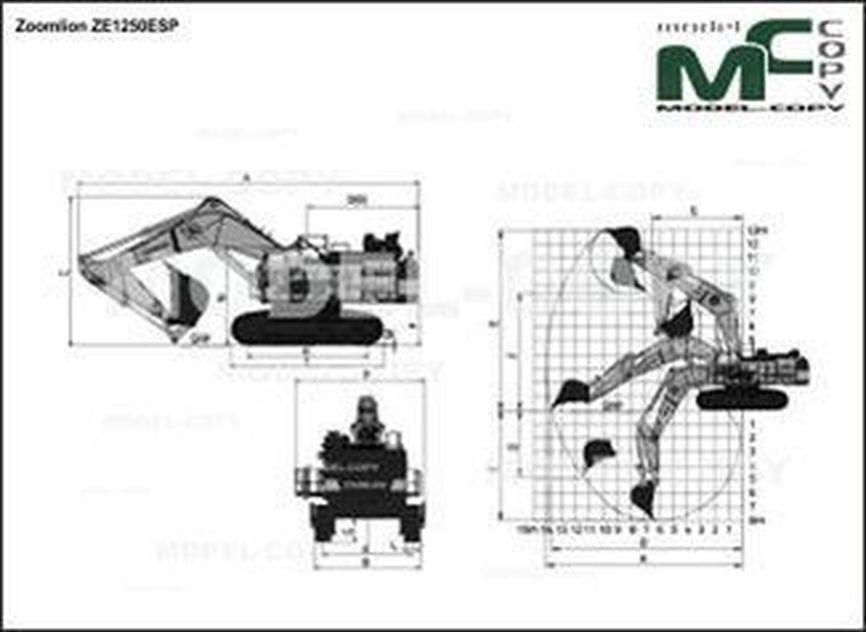 Zoomlion ZE1250ESP - drawing