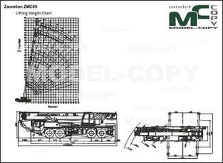 Zoomlion ZMC85 - drawing