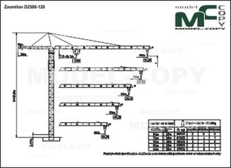 Zoomlion D2500-120 - drawing