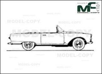 Auto Union 1000SP Roadster '1958 - drawing