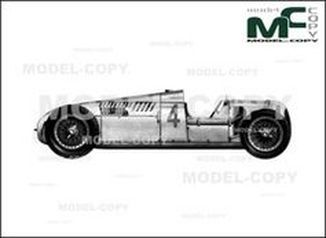 Auto Union C Type GP OW '1936 - drawing