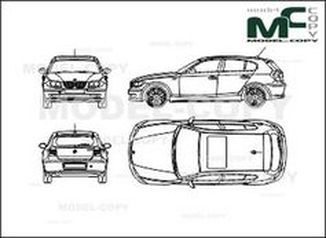 BMW 1 Series E81 5-Doors (2007) - drawing