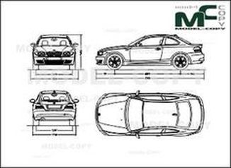 BMW 1 Series E81 Coupe (2007) - drawing