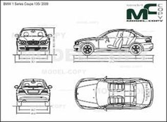 BMW 1 Series Coupe 135i '2009 - drawing
