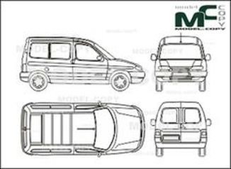 Citroen Berlingo, Сombi,  rear double doors - drawing