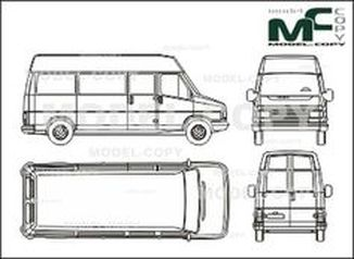 Citroen C 25 High space box, long, single door - drawing