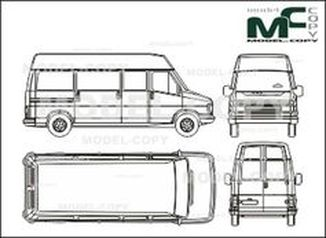 Citroen C 25 High space box, long, sliding door - drawing