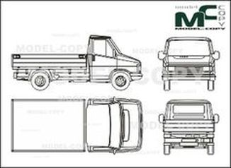 Citroen C 25 bunk, normal - drawing