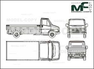 Citroen C 25 bunk, long - drawing