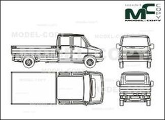 Citroen C 25 bunk, double cabin, long - drawing