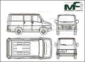 Citroen C 800 Bus/box, tailgate - drawing