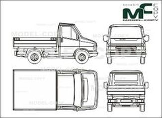 Citroen C 800 bunk - drawing