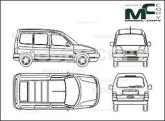 Citroen Berlingo Сombi Multispace, sliding doore, tailgate - drawing